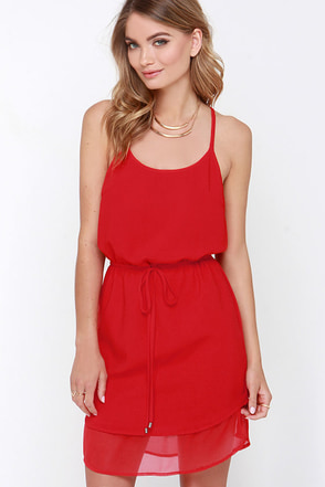 Rebel at Heart Red Dress at Lulus.com!