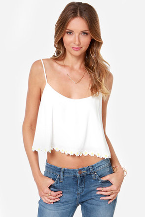 Crop-sy Daisy Ivory Crop Top