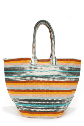 Billabong Celestial Lightz Striped Beach Tote