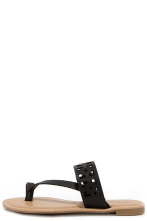 Seashore Thing Black Cutout Sandals at Lulus.com!