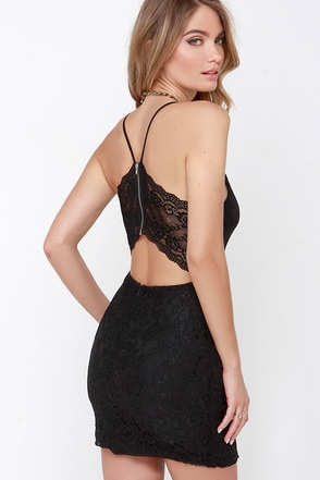 Traveling Menagerie Black Lace Dress at Lulus.com!