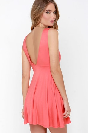 Dream of Fiji Coral Skater Dress at Lulus.com!
