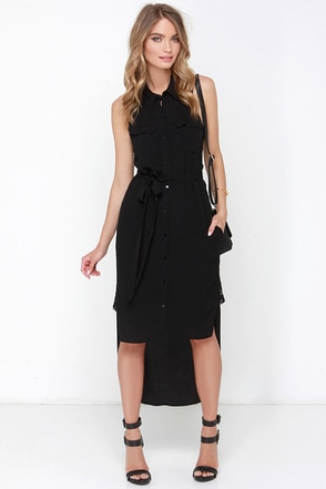 Two Sides Black High-Low Dress at Lulus.com!