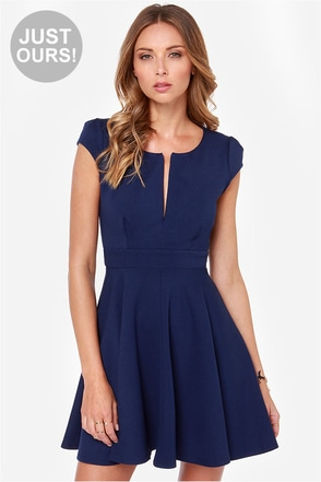 LULUS Exclusive Top Contender Navy Blue Dress at Lulus.com!