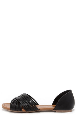 Stroll Along Black Peep Toe Flats at Lulus.com!
