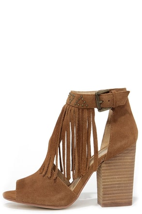 Chinese Laundry Boho Grey Suede Leather Fringe Booties at Lulus.com!