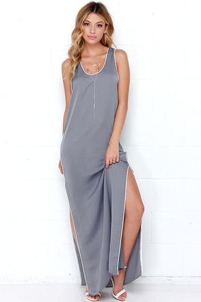 In Your Court Grey Maxi Dress at Lulus.com!