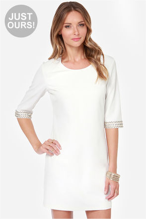 LULUS Exclusive Sleeve-ing Beauty Ivory Dress