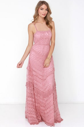 Beneath the Garden Arbor Grey Lace Maxi Dress at Lulus.com!