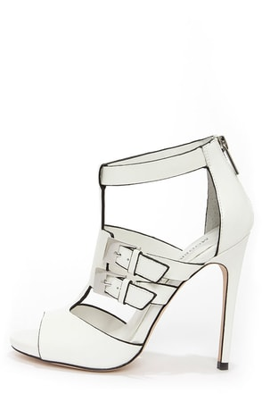 Modern Vice Rio White Cutout High Heel Booties