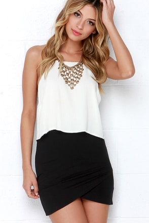 Tulip Locked Beige Bodycon Skirt at Lulus.com!