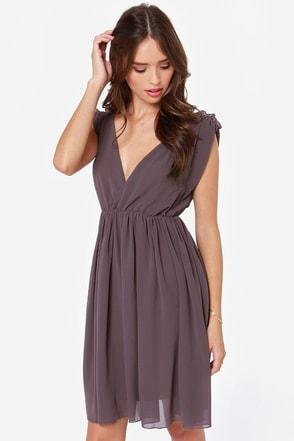 Ballet It on Thick Dark Purple Dress