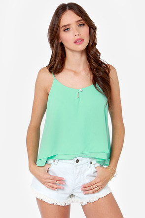 Lucy Love Sunshine Mint Green Tank Top