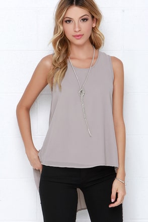 Joy to the Whirled Taupe Top at Lulus.com!