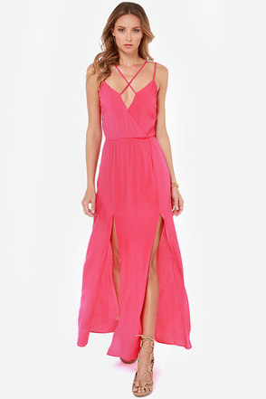 Reverse Take a Hint Fuchsia Pink Maxi Dress