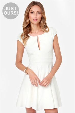 LULUS Exclusive Top Contender Ivory Dress