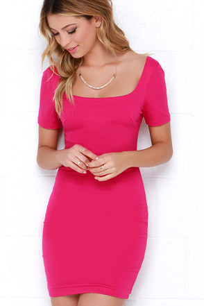 First Lady Fuchsia Bodycon Dress at Lulus.com!
