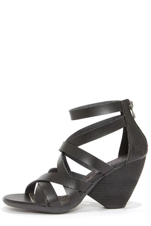 Blowfish Enola Black Strappy High Heel Sandals