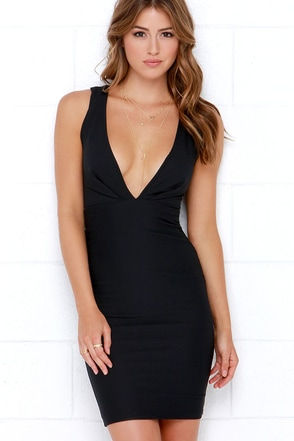 Take Me On Black Bodycon Midi Dress at Lulus.com!
