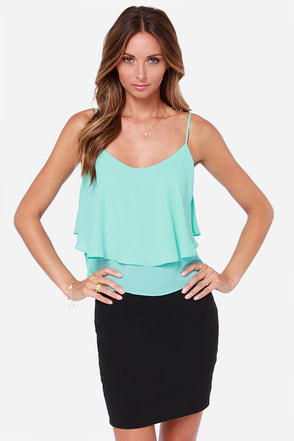 Adjust in Case Aqua Blue Tank Top