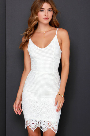 Midsummer Dreamin' Ivory Lace Dress at Lulus.com!