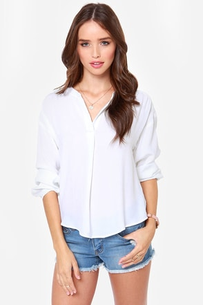 Lucy Love Pickadilly White Top