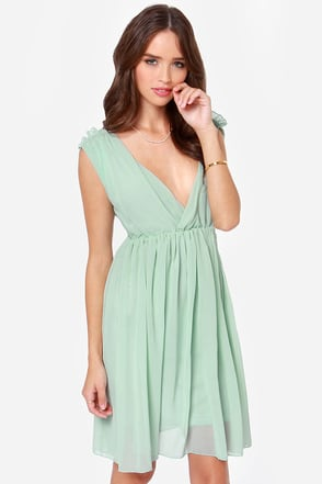 Ballet It on Thick Mint Green Dress at Lulus.com!