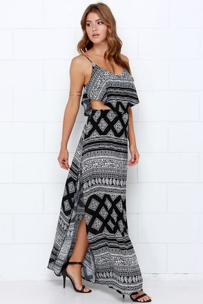 Gypsy Caravan Black Paisley Print Two-Piece Dress at Lulus.com!