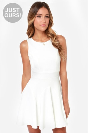 LULUS Exclusive Got a Feeling Ivory Dress