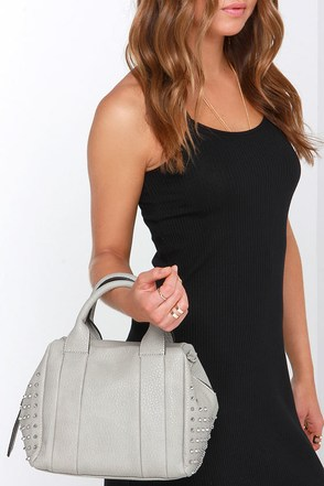Study Session Grey Handbag at Lulus.com!
