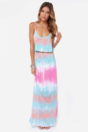Never Say Tie-Dye Blue Maxi Dress at Lulus.com!