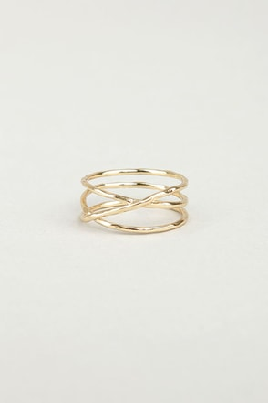 Sealed With a Twist Gold Ring
