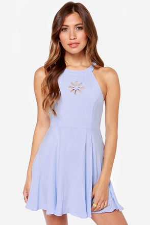 Rhythm Daisy Chain Cutout Periwinkle Blue Dress
