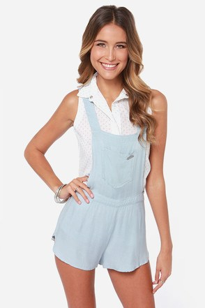 Rhythm My Overalls Light Blue Short Overalls