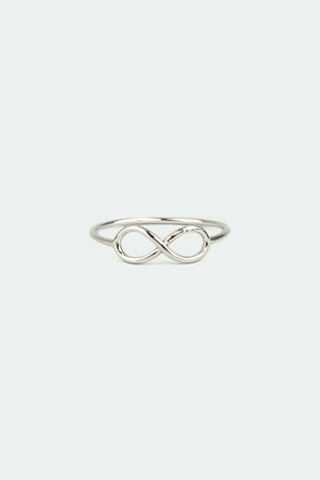 Thin-finity Silver Infinity Ring