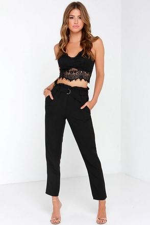Glamorous Nice Stems Black High-Waisted Pants at Lulus.com!