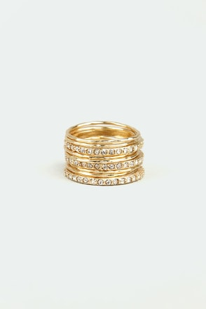 Nine and Dandy Gold Ring Set