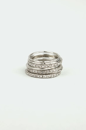 Nine and Dandy Silver Ring Set