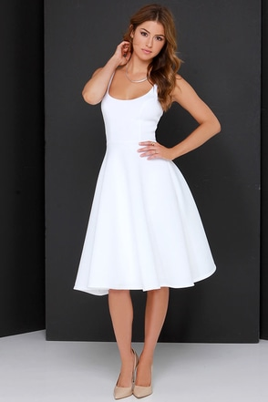 Sweet Confection Ivory Midi Dress at Lulus.com!
