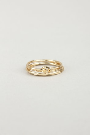 Knot for You Gold Ring Set