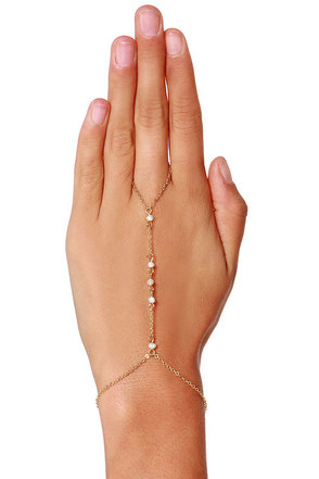 Show of Hands Gold Harness Bracelet at Lulus.com!