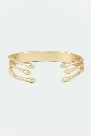 Madam and Serpent Gold Snake Bracelet
