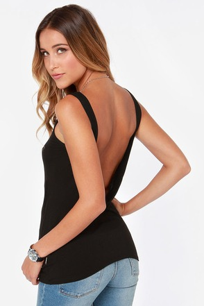 Rhythm My Scoop Black Tank Top at Lulus.com!