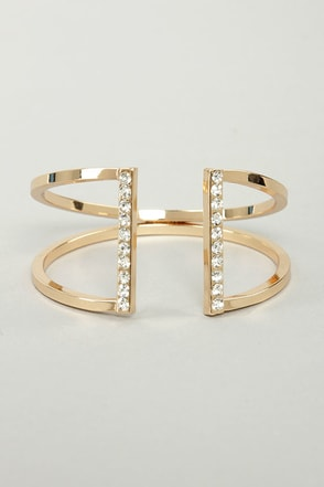 Glam Band Gold Rhinestone Cuff