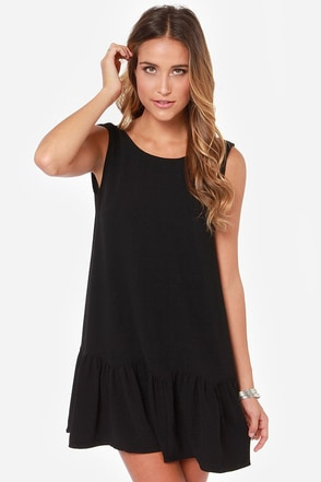 Breaking News Backless Black Dress