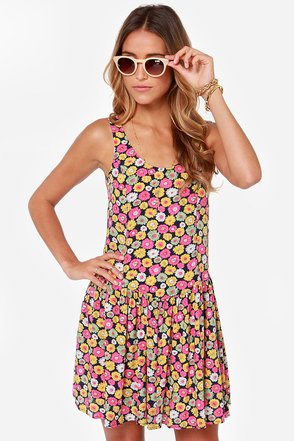 LULUS Exclusive Poppy Hour Floral Print Dress
