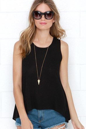 I Can See Sheerly Now Black Lace Top at Lulus.com!
