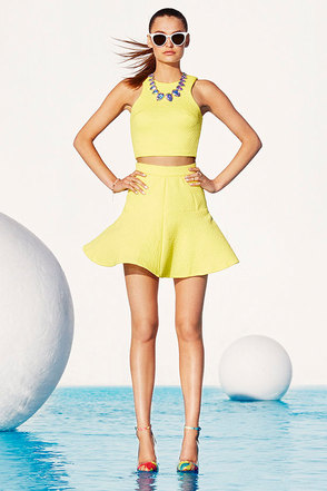 Grow to Glow Yellow Two-Piece Dress at Lulus.com!
