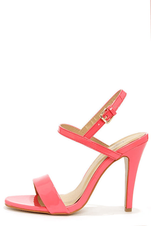 Ginger Pink Patent Strappy Dress Sandals at Lulus.com!
