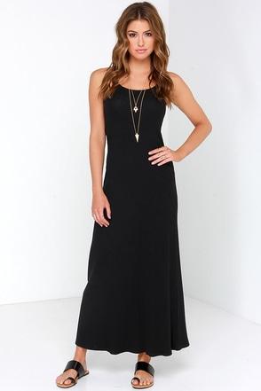 Glamorous Where Knits At Black Maxi Dress at Lulus.com!